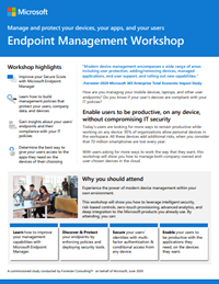 Microsoft Endpoint Management Workshop flyer img